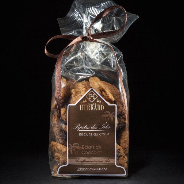 Biscuits au coco agrémentés d'éclats de Chocolat – Pépites des îles